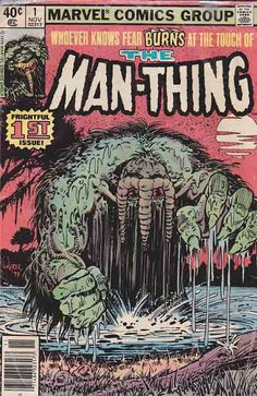 Man-Thing is a fictional monster, appearing in books published by Marvel Comics. Created by writers Stan Lee , Roy Thomas, and Gerry Conway and artist Gray Morrow, the character first appeared in Savage Tales #1 (May 1971), and went on to be featured in various titles and in his own series, including Adventure into Fear, which introduced the character Howard the Duck .