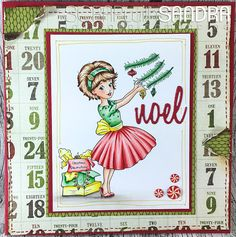 Scrap with Sandra: A Christmas Card- Challenge # 229- The Paper Shelter