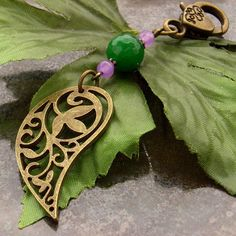 Bag or purse charm paisley charm by BlueForestJewellery on Etsy, $20.00