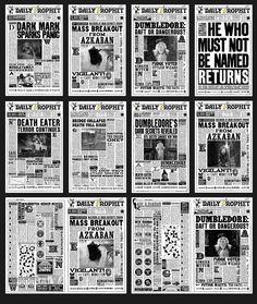 make laser photocopy of Harry Potter Daily Prophet Nail Art Template Harry Potter Halloween, Harry Potter Diy, Harry Potter Newspaper, Natal Do Harry Potter, Harry Potter Fiesta, Harry Potter Thema, Harry Potter Classroom, Theme Harry Potter, Harry Potter Printables