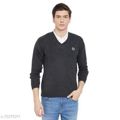 Checkout this latest Sweaters Product Name: *kvetoo Men Wool Blend Full Sleeve V Neck Casual Winter Wear Sweater* Fabric: Wool Sleeve Length: Long Sleeves Pattern: Self-Design Multipack: 1 Sizes: S, M (Chest Size: 38 in, Length Size: 23 in, Waist Size: 40 in, Hip Size: 40 in)  L (Chest Size: 38 in, Length Size: 23 in, Waist Size: 40 in, Hip Size: 40 in)  Country of Origin: India Easy Returns Available In Case Of Any Issue   Catalog Rating: ★4 (321)  Catalog Name: Trendy Glamorous Men Sweaters CatalogID_1982414 C70-SC1208 Code: 424-10770711-069