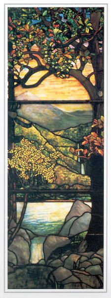 Louis Comfort Tiffany stained glass I can only imagine how pretty it must be when the sunlight shines through :)