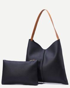 On continue dans les accessoires avec ce #sac en similicuir et sa grande pochette ! Disponible sur Ynes Boutique :)