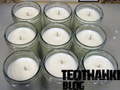 Make your own 50-hour candles for less than 2 dollars a piece. Great for lighting an outdoor gathering, storage, anything!