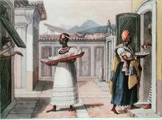 Travelling Saleswomen In Rio De Janeiro In, 1827 by Jean Baptiste Debret (1768-1848, France)