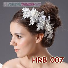 Aksesoris Rambut Pesta l Headpiece Pengantin Wedding Modern - HRB 007