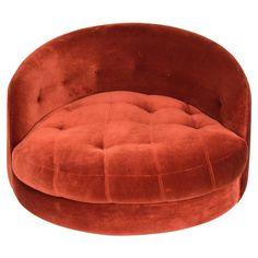 Milo Baughman Swivel Tub Chair