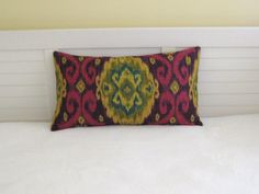 "New Iman Home Design Ubud in Tourmaline 14""x24"" Lumbar Pillow Cover"