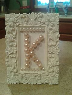 Cute baby shower gift for baby's room. Cheap and easy to make!