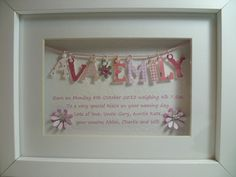 Personalised 3D Box Frame