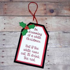 Christmas Gift Tags  Set of 4  I'm Dreaming of a by ArtfulPanache