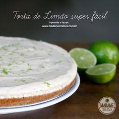 Receita torta de limão super fácil - Dicas de como fazer - Lime pie Recipe - DIY - Madame Criativa - www.madamecriativa.com.br