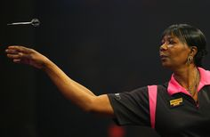 Deta Hedman - po-faced darts player who seems genuinely nice off the oche. How many darts players could come across as well on R4's Saturday Live?