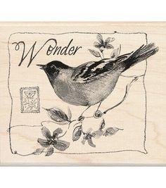 """Mounted Rubber Stamp 3.5""""X4""""-Wonder Bird"""