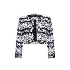 Yves Saint Laurent Vintage 1980s Navy Bolero Jacket ($395) ❤ liked on Polyvore featuring outerwear, jackets, tuxedo jacket, 80s fashion, vintage tuxedo, striped jacket and navy bolero jacket