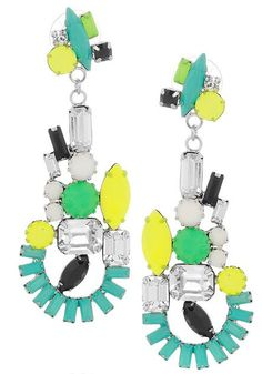 Earrings, Ethno Teknic collection. Available at Net-a-Porter. Love the color.  Perhaps a bit over the top for lounging around the house.