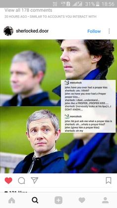 The instagram account is mentioned in the screenshot. Johnlock Love