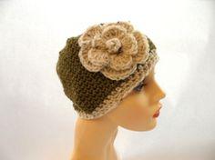 Golden Heart Crafts: Hat - Green Beanie II, Hats and Gloves Golden Heart, Heart Crafts, Crochet Hats, Beanie, Green, Handmade, Gloves, Knitting Hats, Hand Made