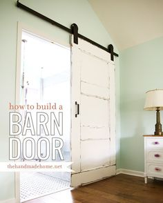 A simple way to build and paint a wonderfully aged barn door for your home