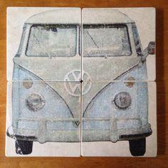 VINTAGE VW BUS Drink Coasters Set of 4 by WindyDucks on Etsy