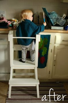 mint in the middle: lucy recommends... a learning tower made from Ikea step stool