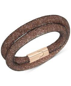 Classic Designer Style Silver Mesh Pave CZ cristaux fermoir magnétique bracelet