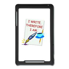 Writer Nexus 7 Tablet Case with a design from PersonalziedSouvenirs.com.