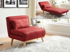 Fauteuil convertible POSIO en tissu - Rouge Accent Chairs, Lounge, Couch, Bedroom, Furniture, Home Decor, Armchairs, Taupe, Products