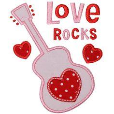 Love Rocks Applique- Planet Applique