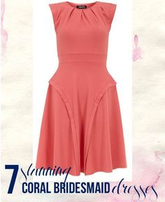 7 Stunning Coral Bridesmaid Dresses with a little vintage flair only $27!