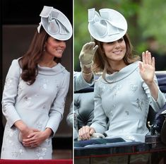 For the Trooping the Colour on the June 16th, 2012, the Duchess chose a silvery grey frock by Erdem.