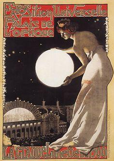 Trademark Global Vintage Lavoie 'Paris Expo LOptique Canvas Art - 47 x 30 x 2 Art Nouveau Poster, Vintage Advertising Art, Vintage Art, Poster Art, Art, Cover Art, Vintage, Prints, Vintage Illustration