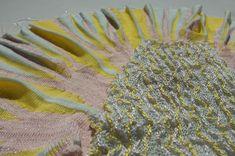 1.BA 2019, verkürzte Reihen, Nina Orgiu Meat, Knitting, Textile Design, Tricot, Cast On Knitting, Stricken, Crocheting, Knits, Yarns