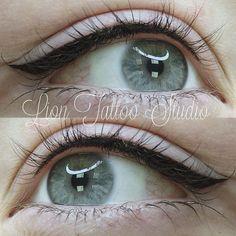 Eyeliner Tattoo, Makeup Tattoos, Eyebrow Tattoo, Makeup Pro, Eyebrow Makeup, Makeup Inspo, Natural Eyeliner, Natural Makeup, Eyeliner Techniques