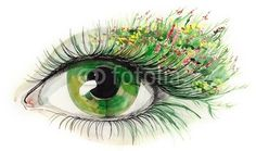 green human eye (series C) Wall Mural ✓ Easy Installation ✓ 365 Day Money Back Guarantee ✓ Browse other patterns from this collection! Eye Sketch, Human Eye, Photo Wallpaper, Green Eyes, Wall Murals, Drawings, Illustration, Face, Painting