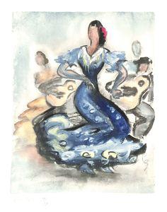 Flamenco - 1/12 - album de Jean Toth (1899-1972) - secret des Mouvements de la Danse - Paris - Printemps 1953 - MAS Estampes Anciennes - Antique Prints since 1898
