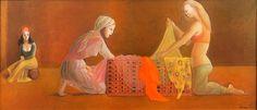 Leonor Fini (Argentine 1907–1996) [Surrealism] Le Coffre, 1975.