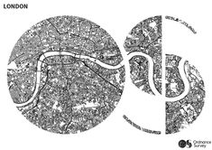 OS Logo London Map - Free Colouring Pages for Adults (more at link) Free Coloring Pages, Coloring Books, Map Logo, London Map, Illuminated Letters, Graphic Design Typography, Cartography, How To Draw Hands, Clipboard
