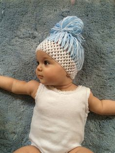 Items similar to Baby Yarn Wigs. Bubba Bun on Etsy Crochet Hood, Crochet Beanie, Crochet Baby, Headband Wigs, Baby Headbands, Halloween Costumes For Sisters, Fairy Costume Diy, Yarn Wig, Preemies