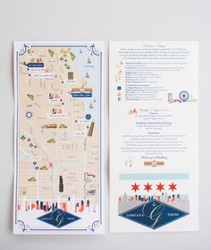 Custom Wedding Map Infographic with Itinerary by cwdesigns2010