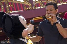 TV star Mario Lopez shared a sandwich with Mickey Mouse at the Grand Opening of Earl of Sandwich in Downtown Disney on Friday.  Have you eaten at Earl of Sandwich yet?