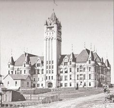 Spokane Courthouse 1890 Spokane Washington, Washington State, Old Pictures, Old Photos, Liberty Lake, Evergreen State, Old Buildings, Pacific Northwest, North West