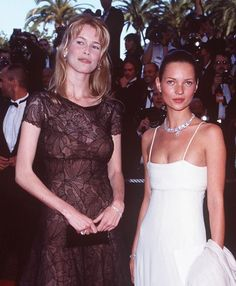 Cannes 1995, Claudia Schiffer and Kate Moss !