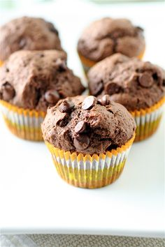 @Danielle Hanna Chocolate Chocolate Chip Muffins | The Curvy Carrot Chocolate Chocolate Chip Muffins | Healthy and Indulgent Meals Dangling in Front of You