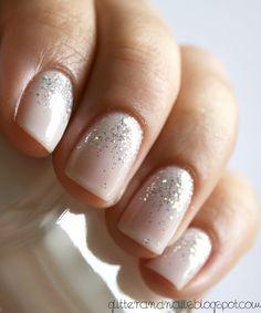 Glitter base nails