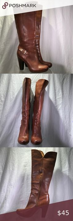 Tall Brown Leather Boots, Tall Boots, High Heel Boots, Lace Up Boots, Shoes Heels Boots, Knee Boots, Heeled Boots, Rock Boots, Sofft Shoes