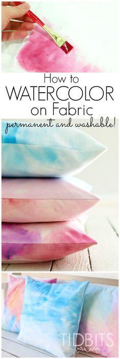 Como aquarelar tecidos