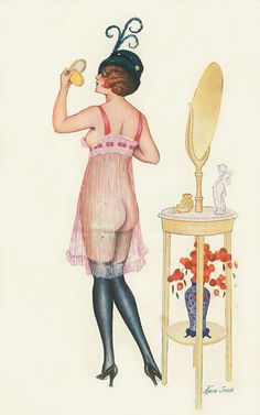 Xavier Sager Signed Art Nouveau See thru Nude A. Noyer Circa Risque by JerryBurton on Etsy
