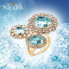 This #glamorous #aquamarine #gold #ring helps us think of the being #cool during the #hot #summer months. Sometimes you just need to #chill out a little bit. We could imagine that this ring would be worn by #princess #Elsa from the #Disney hit #Frozen. What do you think? #gelé #الماس #مجوهرات  #الذهب #زبرجد  #diamants #bijoux #luxe #jewelry #jewellery #ice #norway