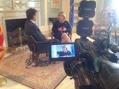 Rob is visiting with Governor Fallin about the Oklahoma Works initiative.